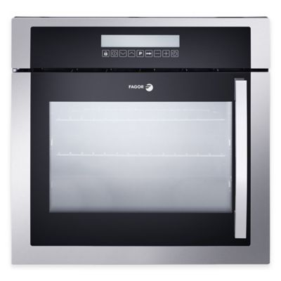 Fagor 24-Inch Left Side Opening Built-In Convection Oven in Stainless Steel/Black