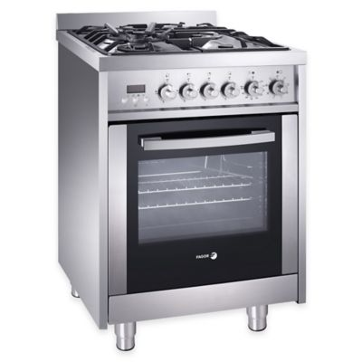 Fagor 24-Inch Dual Fuel Range in Stainless Steel