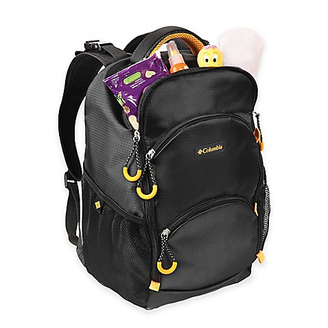 columbia pine oaks backpack diaper bag in black. Black Bedroom Furniture Sets. Home Design Ideas