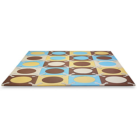 SKIP*HOP® Playspot Blue and Gold Interlocking Foam Tiles