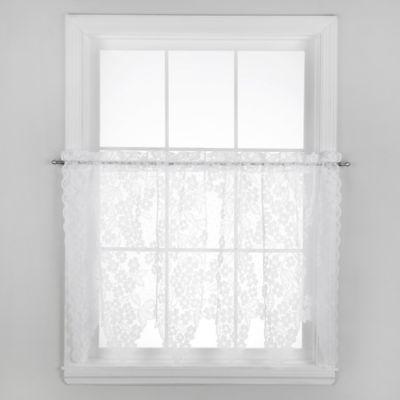 Dogwood 24-Inch Window Curtain Tier Pair in Ecru