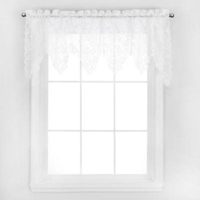 Dogwood Window Valance in Ecru