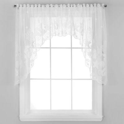 Seascape Window Swag in White