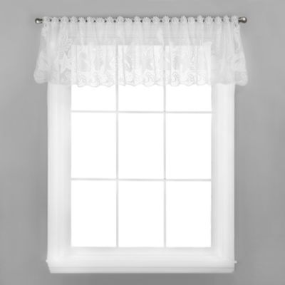 Seascape Window Valance in White