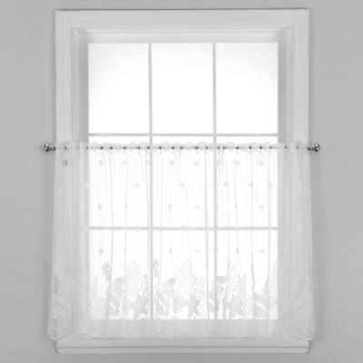 Seascape 24-Inch Window Curtain Tier in White