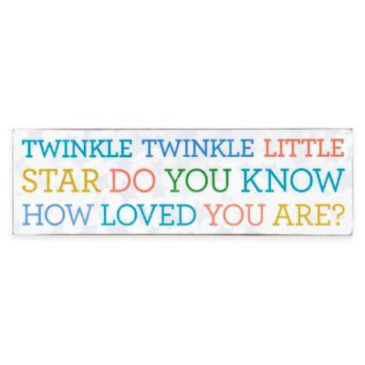 "Sunnyside Up® ""Twinkle Twinkle Little Star"" Plaque"