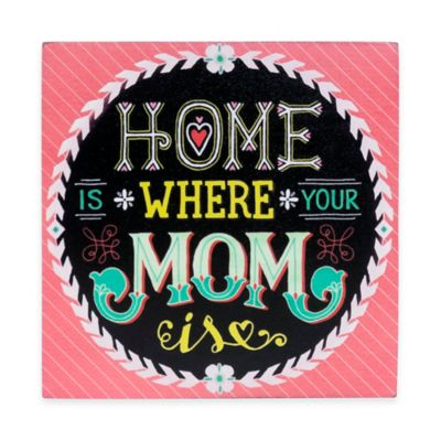 "Wanderlust ""Home Is Where Your Mom"" Is Plaque"