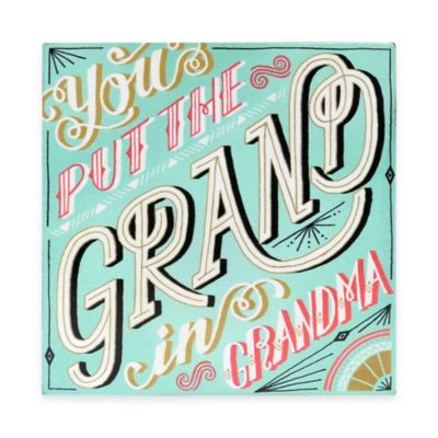Wanderlust Collection Grand Grandma Plaque