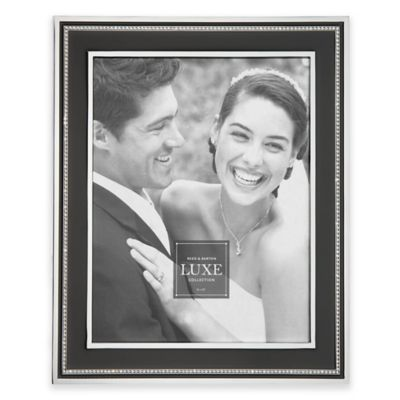 Reed & Barton® Luxe Collection 8-Inch x 10-Inch Facets Picture Frame in Black/Chrome