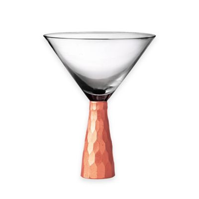 Fitz and Floyd® Daphne Martini Glasses in Copper (Set of 4)