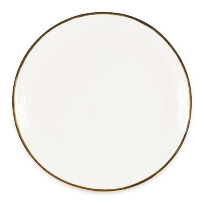 Olivia & Oliver Harper Organic Shape Gold 13-Inch Round Platter