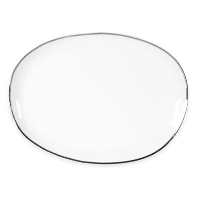Olivia & Oliver Harper Organic Shape Platinum 16-Inch Oblong Platter