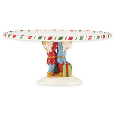 Kathy Ireland Home® by Gorham Once Upon a Christmas Footed Cake Plate