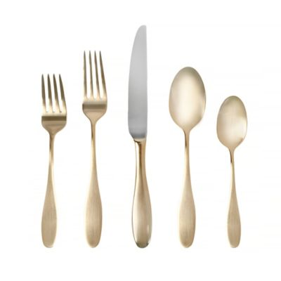 Towle® Living Ashwell Gold 20-Piece Flatware Set