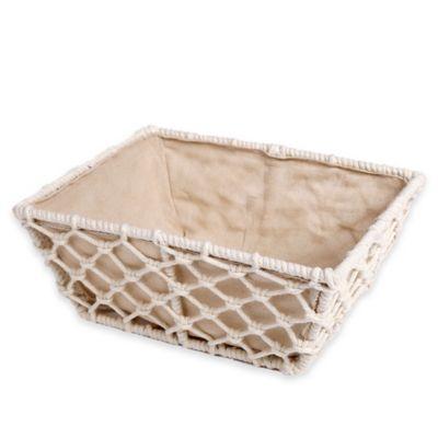 White Vanity Basket