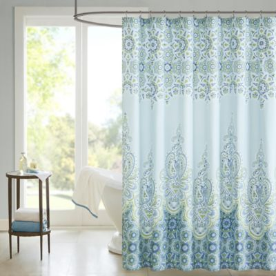 Madison Park Saratoga Printed Shower Curtain in Grey