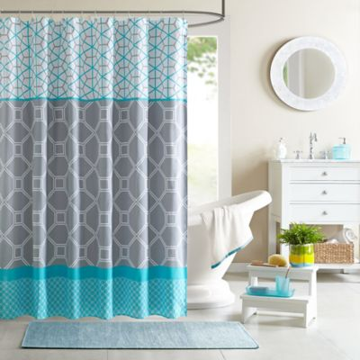 72-Inch Blue Shower Curtain