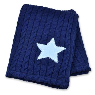 Just Born® Vintage Sports Sweater Knit Blanket