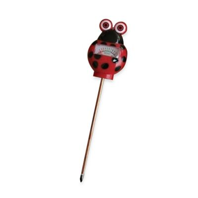 Simply Conserve® 9.25-Inch Ladybug Moisture Meter and Soil Garden Probe in Red