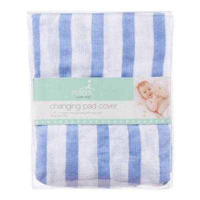 aden® by aden + anais® Changing Pad Cover in Blue Stripe