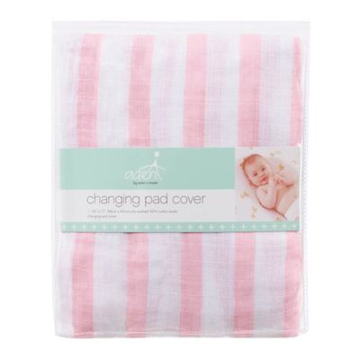aden® by aden + anais® Changing Pad Cover in Pink Stripe