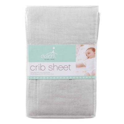aden® by aden + anais® Muslin Fitted Crib Sheet in Aqua Dot