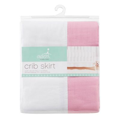 aden® by aden + anais® Crib Skirt in Pink