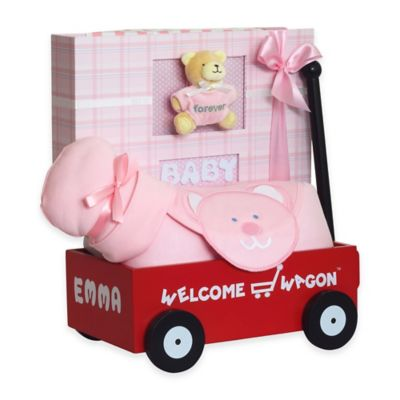 Silly Phillie® Creations Welcome Wagon Baby Gift in Pink