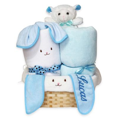 Silly Phillie® Creations Snuggle Bunny Baby Boy Gift Basket