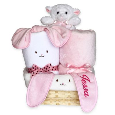 Silly Phillie® Creations Snuggle Bunny Baby Girl Gift Basket