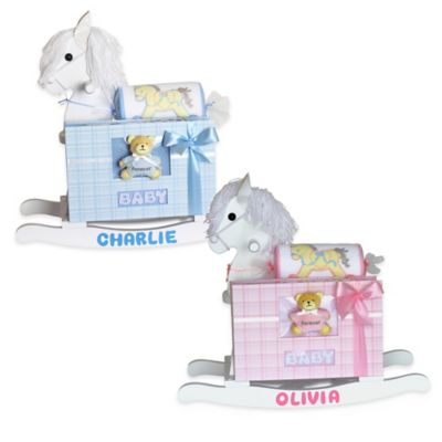 Silly Phillie® Creations Keepsake Rocking Horse Baby Boy Gift Set