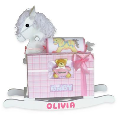 Silly Phillie® Creations Keepsake Rocking Horse Baby Girl Gift Set