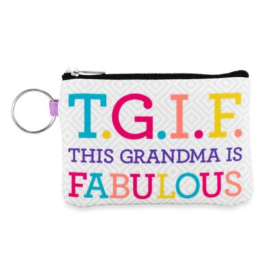 "Sunnyside Up® ""T.G.I.F."" This Grandma Is Fabulous"" Zip ID Pouch"