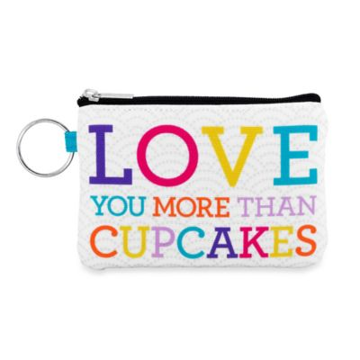 "Sunnyside Up® ""Love You More Than Cupcakes"" Zip ID Pouch"