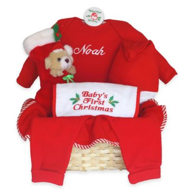Silly Phillie® Creations Baby's First Christmas Gift Basket