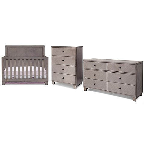 Simmons Kids Bellante Nursery Furniture Collection In Stained Grey Bed Bath Beyond