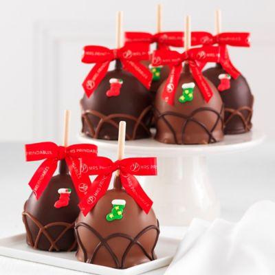 Mrs. Prindable's 4-Pack Tis the Season Petite Caramel Apples