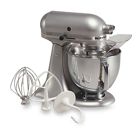 Buy kitchenaid artisan 5 qt stand mixer in silver metallic from bed bath beyond - Kitchenaid artisan qt stand mixer attachments ...
