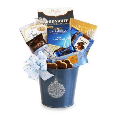 Blue Ornament Tin Holiday Gift Set