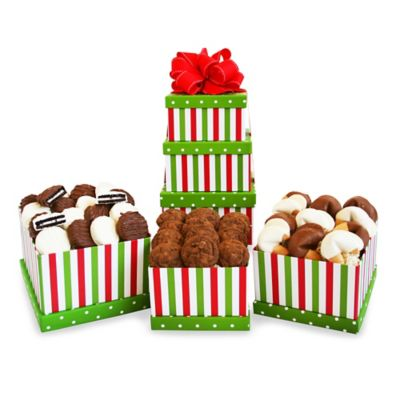 Holiday Striped Tower Gift Set