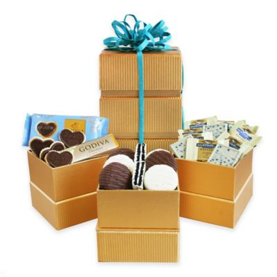 Golden Tower of Treats Gift Set