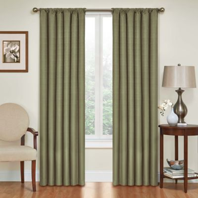 Insola Kate 84-Inch Rod Pocket Blackout Window Curtain Panel in Café