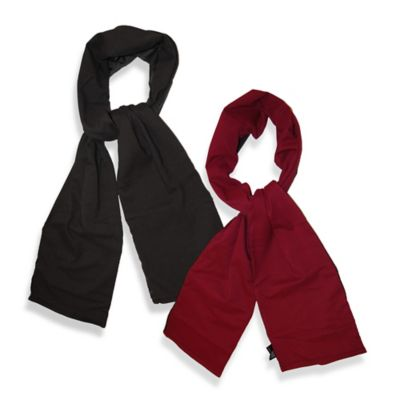 TrendsFormers Waterproof Reversible Hooded Scarf in Black