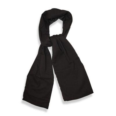 TrendsFormers Waterproof Reversible Hooded Scarf in Black