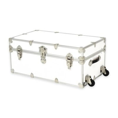 Rhino Trunk and Case® Large Rhino Armor Large Trunk with Removable Wheels in White