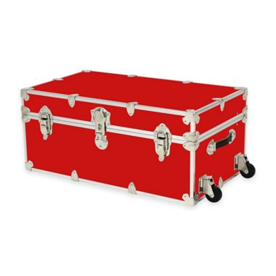 Rhino Trunk and Case® Large Rhino Armor Large Trunk with Removable Wheels in Red