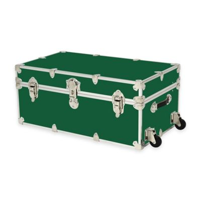 Rhino Trunk and Case® Large Rhino Armor Large Trunk with Removable Wheels in Forest Green