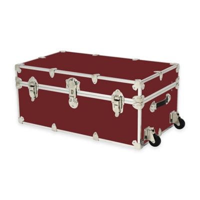 Rhino Trunk and Case® Large Rhino Armor Large Trunk with Removable Wheels in Wine