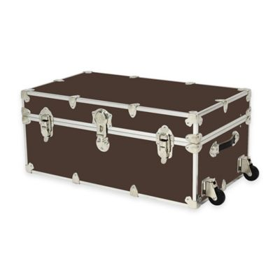 Rhino Trunk and Case® Large Rhino Armor Large Trunk with Removable Wheels in Dark Brown