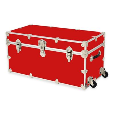 Rhino Trunk and Case™ XXL Rhino Armor Large Trunk with Removable Wheels in Red